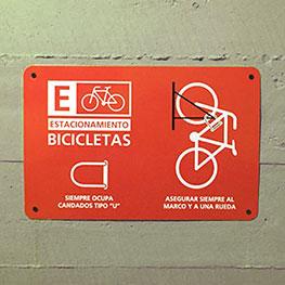 Señaletica bicicletero