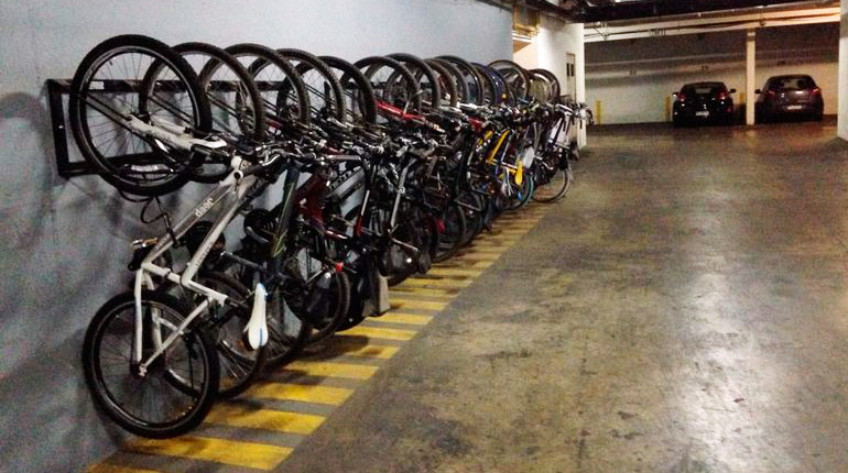 velopolis bicicletero colgante, bicicletero, estacionamiento de bicicletas