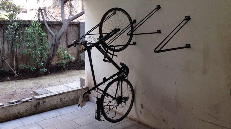 bicicletero colgante